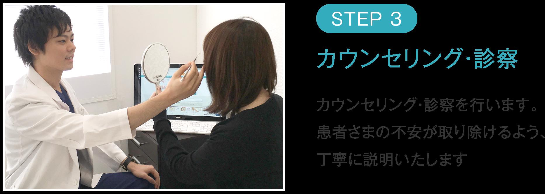 STEP03 カウンセリング・診察